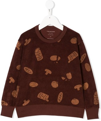 Tiny Cottons Groceries Towel Sweatshirt