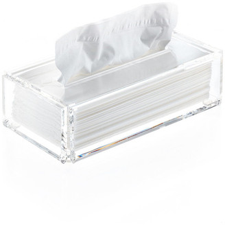 Dwba Bath Collection DWBA Tissue Box Holder Cover Tray Dispenser Tissue Case, Clear Acrylli
