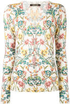Roberto Cavalli floral patterned cardigan