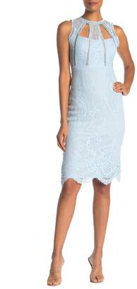 Love by Design Lace Cut Out Midi Dress