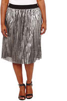 PROJECT RUNWAY Project Runway Knit Pleated Skirt Plus