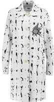 MM6 MAISON MARGIELA Two-Tone Printed Cotton-Blend Poplin Coat