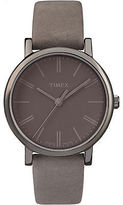 Timex Women's Originals Tonal | Grey Leather Strap Dial Casual Watch TW2P96400