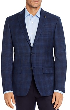 Psycho Bunny Tonal Plaid Regular Fit Sport Coat