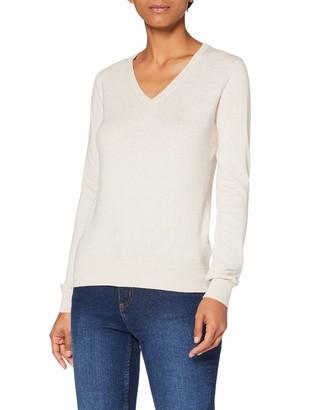Meraki Women's Cotton V Neck Sweater