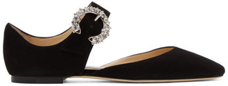 Jimmy Choo Black Gin Mary-Jane Flats