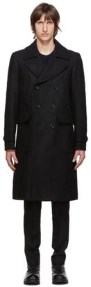 Belstaff Black Wool Milford Coat