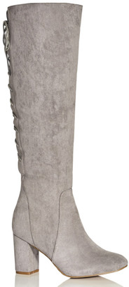 City Chic Perry Knee Boot - grey