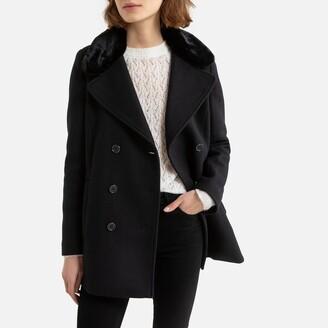 Naf Naf Wool Mix Buttoned Coat