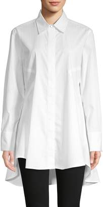 Donna Karan High-Low Cotton-Blend Tunic