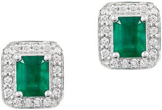 Effy Fine Jewelry 14K 1.11 Ct. Tw. Diamond & Emerald Earrings