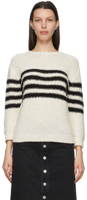 A.P.C. Off-White and Black Luzia Sailor Sweater