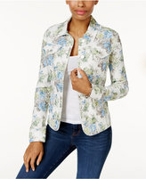 Charter Club Floral Jacquard Denim Jacket, Created for Macy's