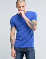 Asos Muscle T-Shirt With Crew Neck In Blue