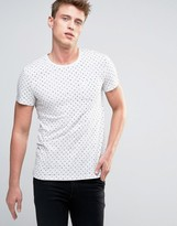 Esprit T-Shirt with All Over Dot Print
