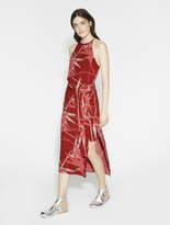 Halston Printed Slip Dress