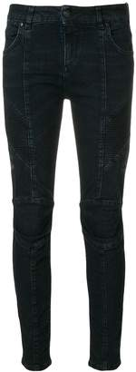 Pierre Balmain skinny biker jeans