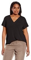 Calvin Klein Women's Plus-Size Top with Lace Back