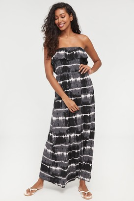 Ardene Super Soft Tie-dye Off Shoulder Dress