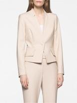 Calvin Klein Khaki Twill Cropped Suit Jacket