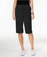 Karen Scott Petite Drawstring Skimmer Shorts, Created for Macy's