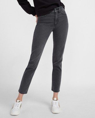 Express High Waisted Black Slim Jeans