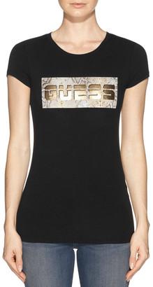 GUESS Short Sleeve Snake Logo R3 Tee