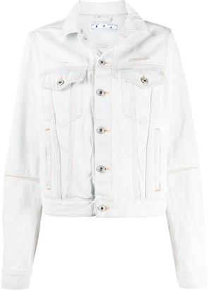 Off-White Hole-Detail Denim Jacket