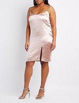 Charlotte Russe Plus Size Satin Slip Dress