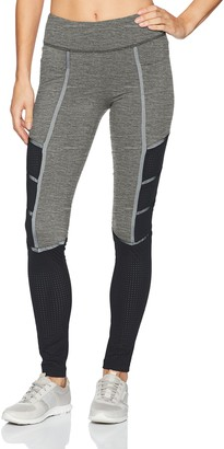 Blanc Noir Women's Active Legging with Contrast Mesh