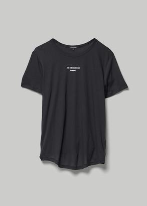 Ann Demeulemeester Women's Branded T-Shirt Shirt in Black Size XS