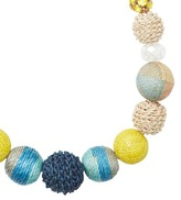 LOFT Long Raffia Wrapped Bauble Necklace