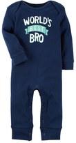 "Carter's Baby Boy World's Best Bro"" Coverall"