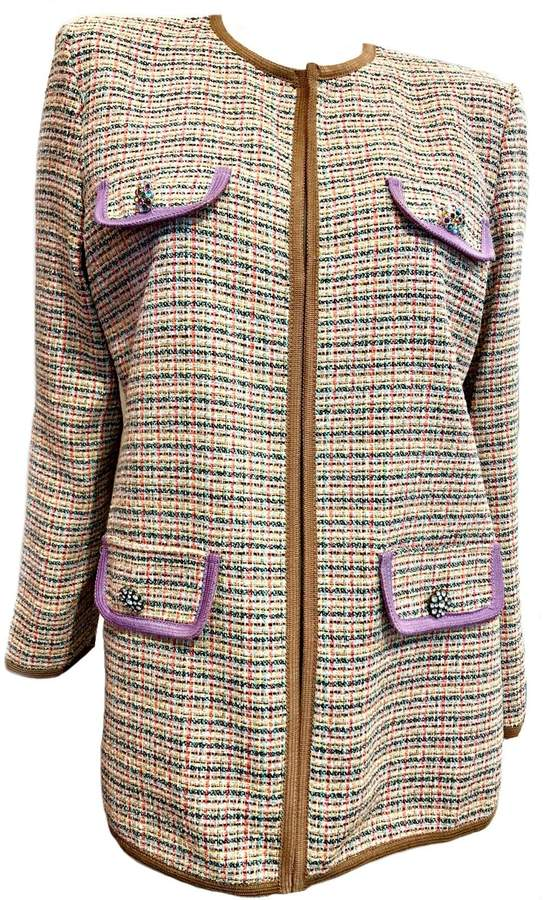 Dixie Tan Tweed Blazer
