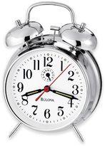 Bulova Bellman II Table Clock in Polished Chrome
