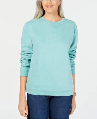 Karen Scott Sport Long-Sleeve Crewneck Sweatshirt