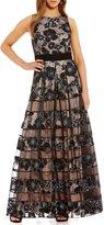 Eliza J Organza Cut Out Ball Gown