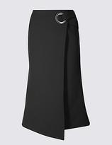 Twiggy Wrap Eyelet A-Line Midi Skirt