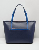 Ted Baker Tote Bag With Front Pocket Removable Pouch