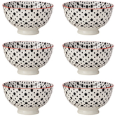 "Torre & Tagus Kiri Porcelain 4.5"" Small Bowl (Set of 6)"
