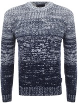 Giorgio Armani Jeans Knitted Gradient Jumper Navy
