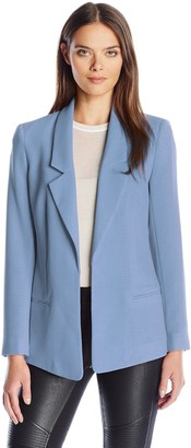 Jones New York Women's Textured Crepe Boyfriend Blazer