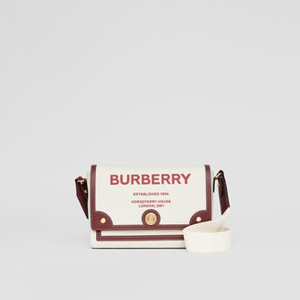 Burberry Horseferry Print Canvas Note Crossbody Bag