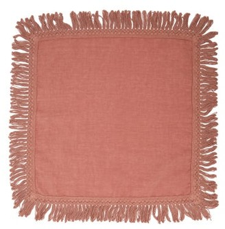 Once Milano - X Peter Pilotto Fringed Linen Napkin - Pink