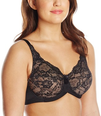 Lunaire Women's Plus-Size London Full Coverage Classic Lace Underwire Bra
