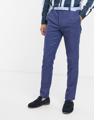 Viggo recycled polyester suit trousers in navy texture