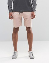 Asos Jersey Shorts In Light Pink