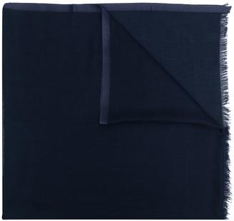 Loro Piana Raw-Edge Silk-Cashmere Blend Scarf