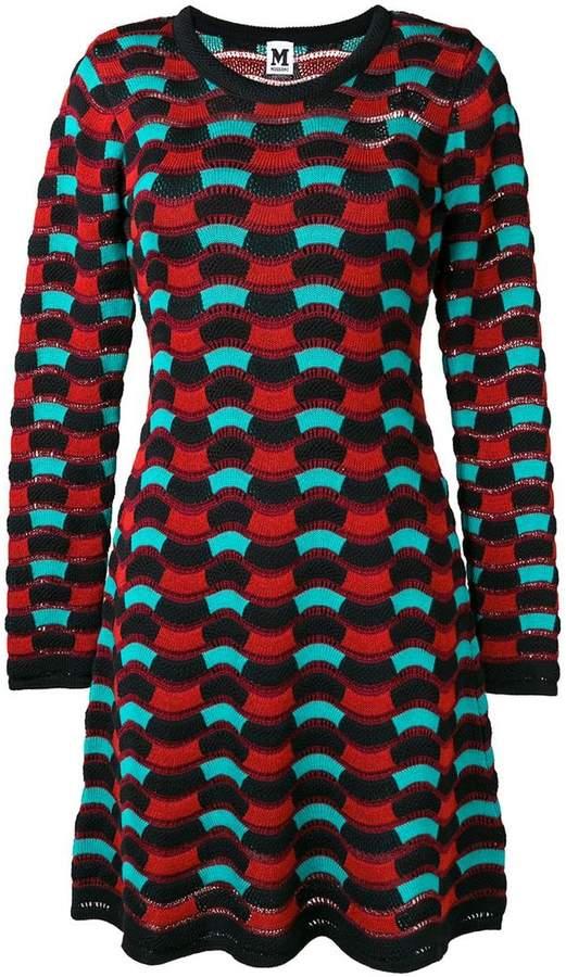 M Missoni wave knit sweater dress