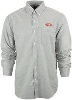 Cutter & Buck Men's San Francisco 49ers Tattersall Dress Shirt